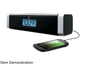 iHomeaudio Portable Alarm Clock Speaker Charging Dock for Smartphones IC16BC
