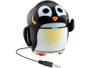 GOgroove Rechargeable Penguin Stereo Speaker with Portable Design & Built-in 3.5mm Cable - Works with Samsung Galaxy Tab 3 Lite , LeapFrog LeapPad Ultra , Dragon Touch Y88X & More Kids Tablets