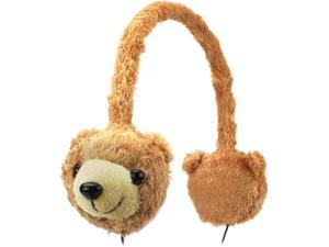 Groove Pal KDZ Kid Friendly Brown Bear Headphones with Volume Limiting Sound by GOgroove - Works with LeapFrog LeapPad Ultra , Vtech InnoTab 3 Plus , nabi Jr.  and More Kids' Tablets