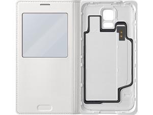 SAMSUNG White Galaxy S 5 S-View Flip Cover EF-CG900BWESTA