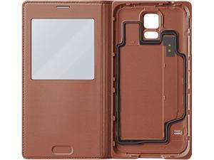 SAMSUNG Rose Gold Galaxy S 5 S-View Flip Cover EF-CG900BFESTA