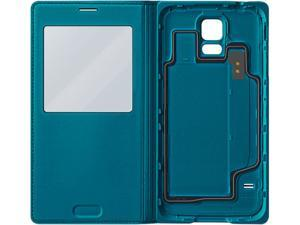 SAMSUNG Green Galaxy S 5 S-View Flip Cover EF-CG900BGESTA