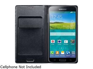 SAMSUNG Black Galaxy S 5 Flip Wallet Cover EF-WG900BBESTA