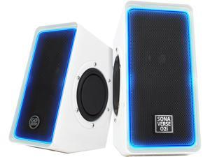 GOgroove SonaVERSE O2i Multimedia Gaming Computer Speaker System w/ Glowing LEDs , Volume Control and USB Plug-N-Play Design for your Laptop , Notebook, Ultrabook, Desktop & More PCs