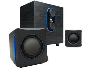 GOgroove SonaVERSE LBr USB Powered 2.1 Computer Speaker System w/ Bass Subwoofer & Dual Stereo Satellite Speakers for Dell , Toshiba , Samsung , HP , Asus , Acer , Lenovo , Sony and More Laptop and PC