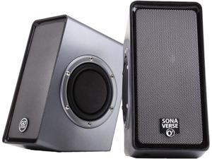 GOgroove SonaVERSE O2 USB Powered Multimedia Computer Speaker System w/ Passive Subwoofers and Volume Control for your Laptop , Notebook , Ultrabook, Desktop & More PCs