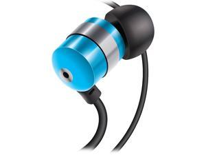 GOgroove AudiOHM Earbuds Earphones with Deep Bass and Interchangeable Noise Isolating Ergonomic Ear Gels  (Blue)