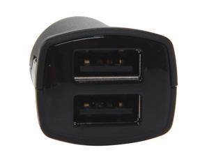 Aluratek AUCC03F Black Dual USB Auto Charger