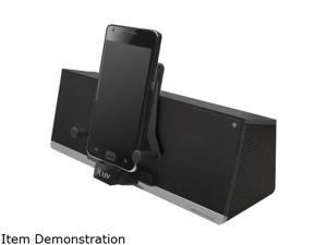 iLuv MobiDock Black 3.5mm Stereo Speaker Dock for Smartphones and Kindle Fire/Touch iMM375BLK