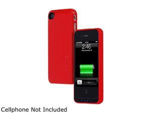 Incipio OffGrid Glossy Red 1450 mAh 1450mAh Backup Battery Case for iPhone 4/4S IPH-568