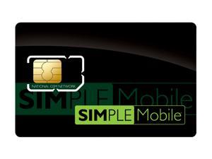 Simple Mobile - 4G/3G/2G SIM Card-Works with most Unlocked GSM Phones additional Monthly Service Required (SIMPLESIM1)