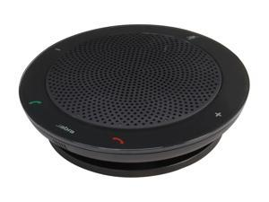 Jabra Black 3.5mm Portable Speakerphone with Wideband/DSP Technology (100-47300000-02) SPEAK 410 for PC