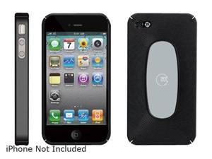 macally Black Snap-on Protective Case with Screen Cleaning Sticky Swipe For iPhone 4 (METROBP4)