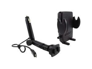 ARKON Lighter Socket Phone Mount with Power Dongle and Mega Grip Holder SM421