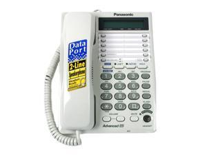 Panasonic KX-TS208W 2-line Operation 2-Line Integrated Telephone System 16-Digit LCD with Clock and Hearing Aid Compatibility (HAC)