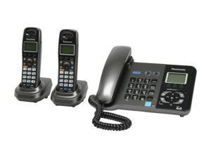 Panasonic KX-TG9392T 1.9 GHz Digital DECT 6.0 2X Handsets Cordless Phone Integrated Answering Machine