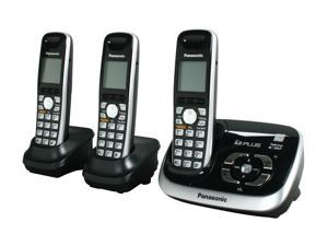 Panasonic KX-TG6533B 1.9 GHz Digital DECT 6.0 3X Handsets Cordless Phone with Answering Machine