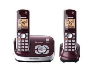 Panasonic KX-TG6572R 1.9 GHz Digital 2X Handsets Cordless Phones