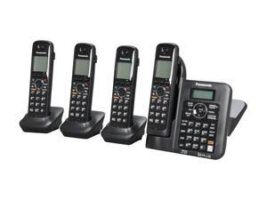 Panasonic KX-TG6644B 1.9 GHz Digital DECT 6.0 4X Handsets Cordless Phones Integrated Answering Machine