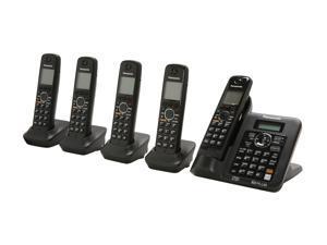 Panasonic KX-TG6645B 1.9 GHz Digital DECT 6.0 5X Handsets Cordless Phones