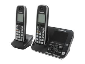 Panasonic KX-TG7622B 1.9 GHz Digital DECT 6.0 Link to Cell via Bluetooth Cordless Phone with Integrated Answering Machine ...
