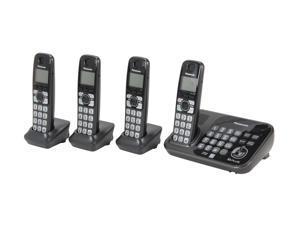Panasonic KX-TG4744B 1.9 GHz Digital DECT 6.0 4 Handsets Cordless Phones with Answering Machine