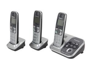 Panasonic KX-TG7733S 1.9 GHz Digital DECT 6.0 Link to Cell via Bluetooth Cordless Phone with Integrated Answering Machine ...
