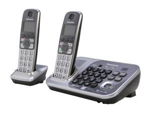 Panasonic KX-TG7742S 1.9 GHz Digital DECT 6.0 Link to Cell via Bluetooth Cordless Phone with Integrated Answering Machine ...