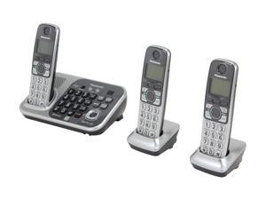 Refurbished: Panasonic KX-TG7743S 1.9 GHz Digital DECT 6.0 Link to Cell via Bluetooth Cordless Phone with Integrated ...