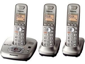 Panasonic KX-TG4023SK 1.9 GHz Digital DECT 6.0 3X Handsets Cordless Phone System Integrated Answering Machine