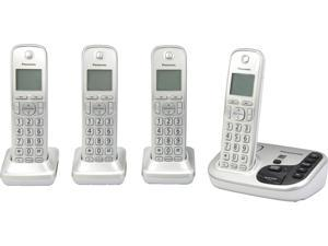 Expandable Cordless Phone with Talking Caller ID- 4 Handsets