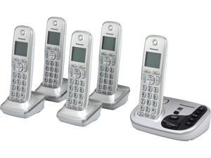 Expandable Cordless Phone with Talking Caller ID- 5 Handsets