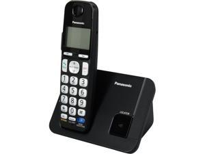 Panasonic KX-TGE210B 1.9 GHz DECT 6.0 1X Handsets Amplified Expandable Digital Cordless Answering System Integrated Answering Machine