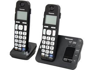 Panasonic KX-TGE232B 1.9 GHz DECT 6.0 2X Handsets Expandable Digital Cordless Answering System with 2 Handsets Integrated Answering Machine