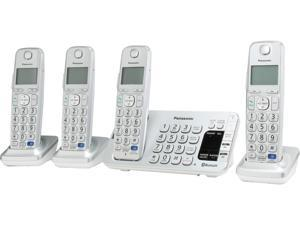 Link2Cell Bluetooth® Corldess Phone with Large Keypad- 4 Handsets