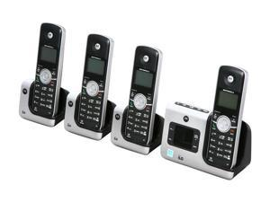 MOTOROLA L404 1.9 GHz Digital DECT 6.0 4X Handsets Motorola Essention Cordless Phone Integrated Answering Machine