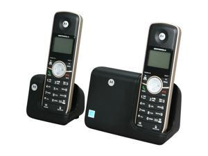 MOTOROLA L512BT 1.9 GHz Digital DECT 6.0 2X Handsets Cordless Phones Integrated Answering Machine