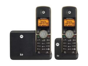 MOTOROLA L512+BT 1.9 GHz Digital DECT 6.0 2X Handsets Cordless Phone System with Bluetooth Technology Integrated Answering Machine