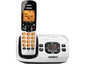 Uniden D1780 Cordless Phone - 1.90 GHz - DECT 6.0  with Digital Answering Systen- Silver, 1 Hanset