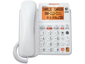 AT&T CL4940 Digital Answering System Corded Telephone w/ Caller ID & Call Waiting, White Color