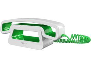 Swissvoice SWV-CH01-GN Corded Handset with Base Station in White/Green