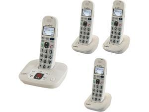 Clarity KIT D712 3 HS DECT 6.0 4X Handsets D712 W/ 3 Additional handset Integrated Answering Machine