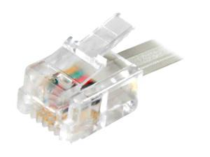 AT&T 89-0054-00 Telephone Line Cord Clear