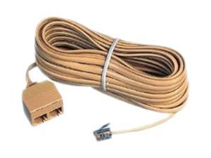AT&T 89-0076-00 25FT Dual Outlet Extension Cord Ivory
