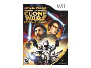 Star Wars: Clone Wars Republic Heroes Wii Game LUCASARTS