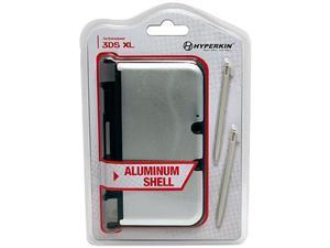 Hyperkin 3DS XL Aluminum Shell with 2 Stylus Pens (Silver)