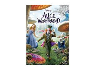 Alice in Wonderland(Live) (DVD) Mia Wasikowska, Johnny Depp, Helena Bonham Carter, Anne Hathaway, Crispin Glover, Matt Lucas, ...