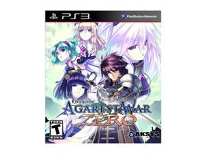 Record of Agarest War Zero Playstation3 Game Aksys
