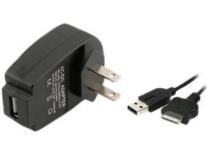 INSTEN Black Travel AC Power Charger Adapter + USB Cable For Sony PSP Go US