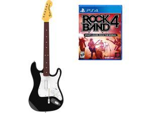 Rock Band 4 Wireless Fender Stratocaster Guitar Controller and Software Bundle - PlayStation 4